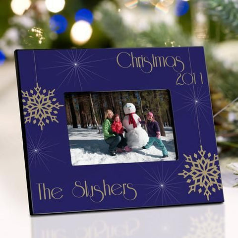 Personalized Christmas Picture Frame - Evening Snowfall -  - Frames - AGiftPersonalized