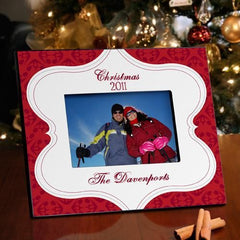 Personalized Christmas Picture Frame - Christmas Tapestry