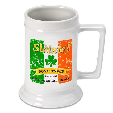 Personalized Irish Theme Beer Stein - IrishPride - Irish Gifts - AGiftPersonalized