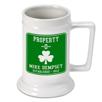 Personalized Irish Theme Beer Stein - PropertyO - JDS