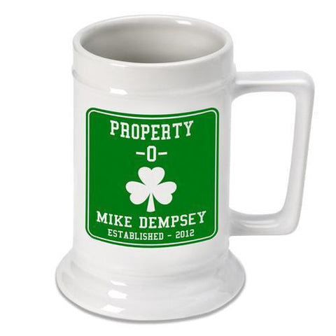 Personalized Irish Theme Beer Stein - PropertyO - Irish Gifts - AGiftPersonalized