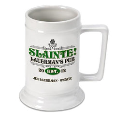 Personalized Irish Theme Beer Stein - SlainteClassic - Irish Gifts - AGiftPersonalized