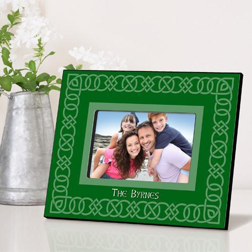 Personalized Irish Themed Picture Frame - CelticGreen - JDS