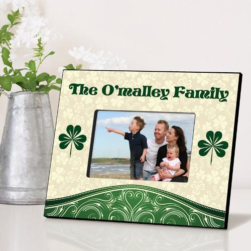 Personalized Irish Themed Picture Frame - Cream&Clover - JDS