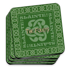 Personalized Irish Family Coaster Set -  - Irish Gifts - AGiftPersonalized
