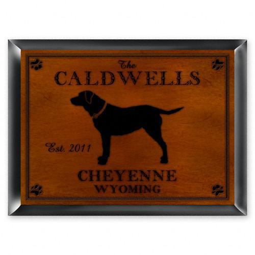 Personalized Cabin Series Signs - Lab - JDS