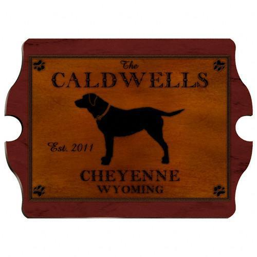 Personalized Cabin Series Wood Signs - Lab - JDS