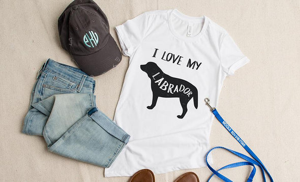 Personalized I Love My Dog T-Shirts -  - Qualtry