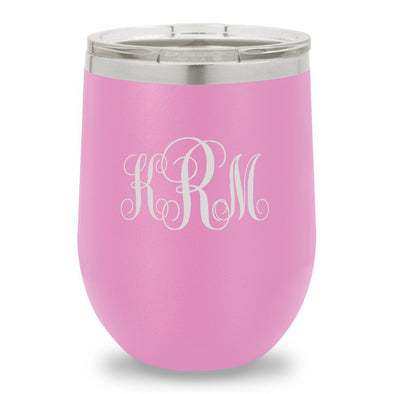 12 oz. Insulated Wine Tumbler - Light Purple - InterlockingMonogram - JDS