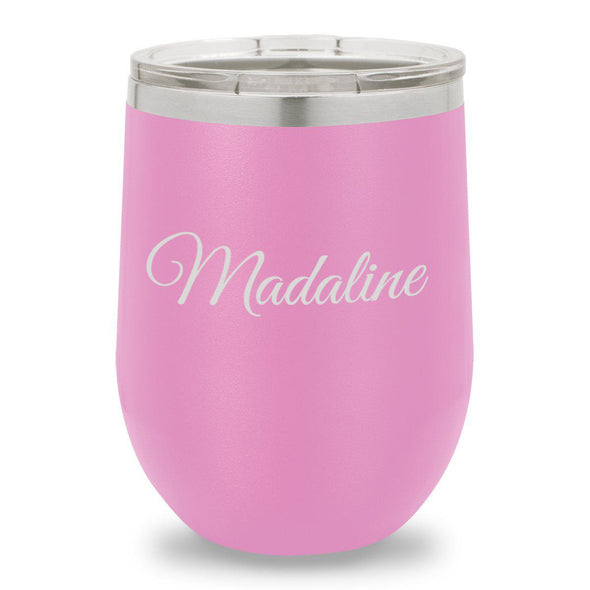12 oz. Insulated Wine Tumbler - Light Purple - Script - JDS