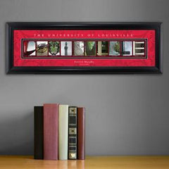 Personalized University Architectural Art - Big East College Art - Louisville
