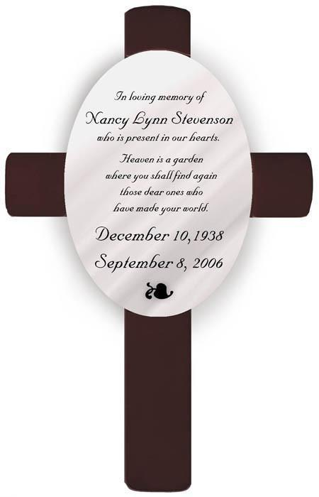 Personalized Memorial Cross -  - JDS