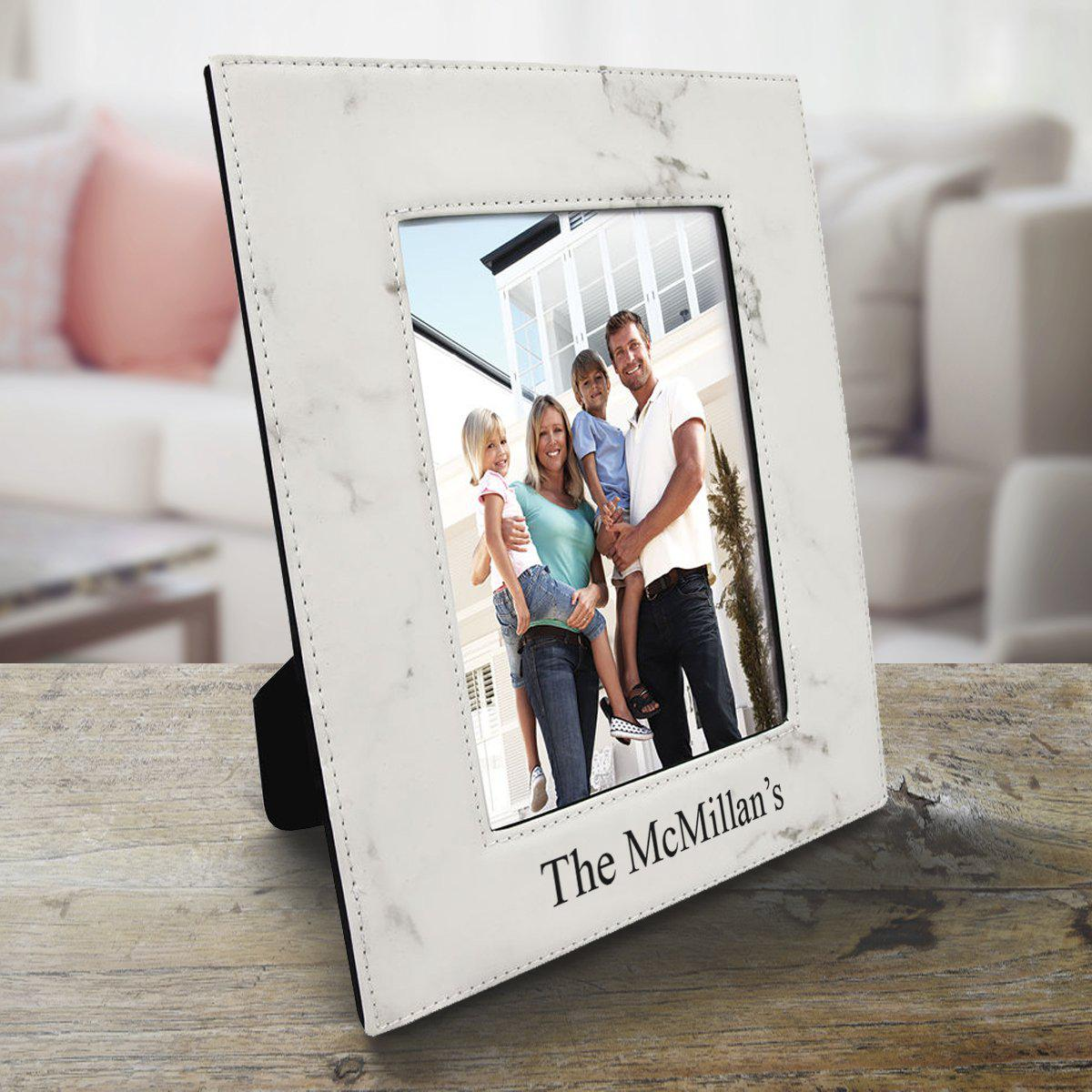 Personalized 5x7 Vegan Leather Picture Frame