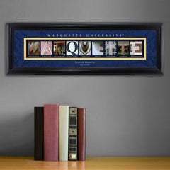 Personalized University Architectural Art - Big East College Art - Marquette - Personalized Wall Art - AGiftPersonalized