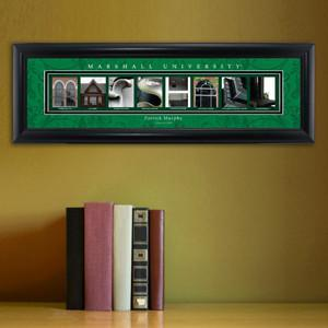 Personalized University Architectural Art - College Art - Marshall - JDS