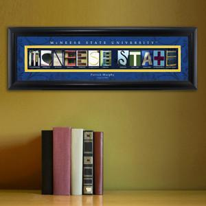 Personalized University Architectural Art - College Art - McNeese