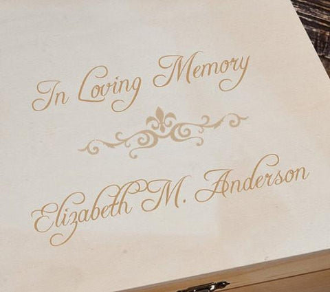 Personalized Keepsake Box - Memorial - Wood - Gifts For Her -
