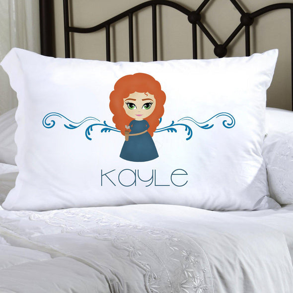 Personalized Princess Kids Pillowcase - Navy - JDS