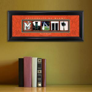 Personalized University Architectural Art -  Atlantic Coast Conference College Art - Miami - JDS
