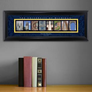 Personalized University Architectural Art - Big 10 Schools College Art - Michigan