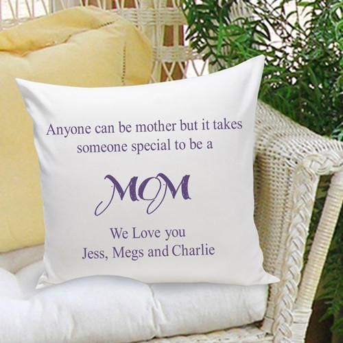 Personalized Anyone Can Be A Mother Throw Pillow - Plum - JDS