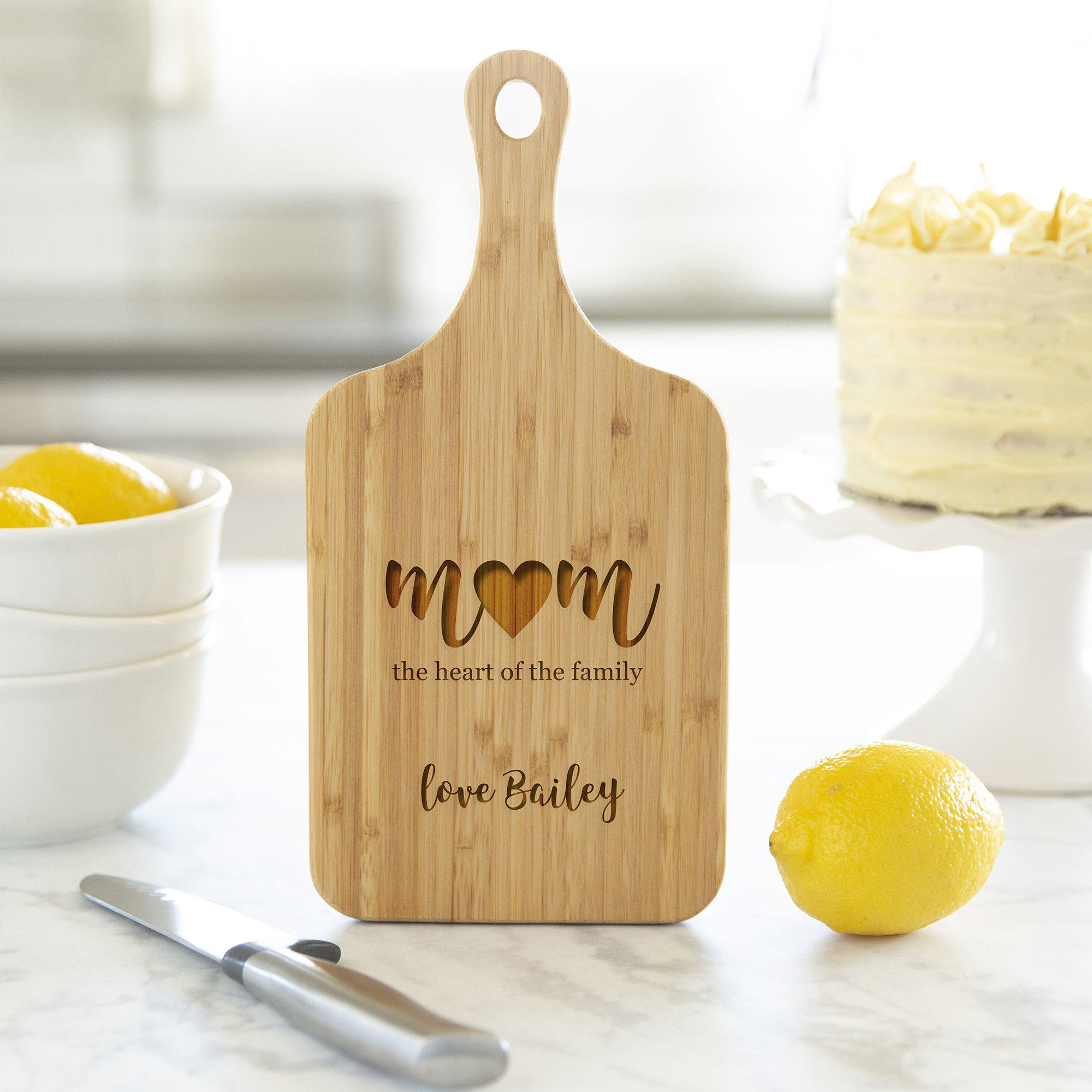 Personalized Handled Cutting Boards for Mom