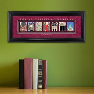 Personalized University Architectural Art - College Art - Montana