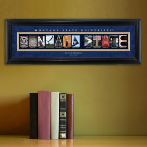 Personalized University Architectural Art - College Art - MontanaST