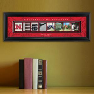 Personalized University Architectural Art - Big 10 Schools College Art - Nebraska - Personalized Wall Art - AGiftPersonalized