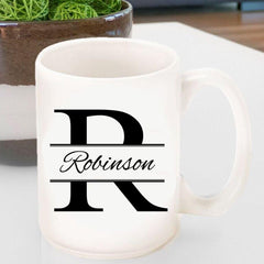 Personalized Coffee Mug - Stamped Design -