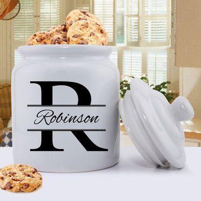 Personalized Ceramic Cookie Jar - Stamped Design -  - JDS