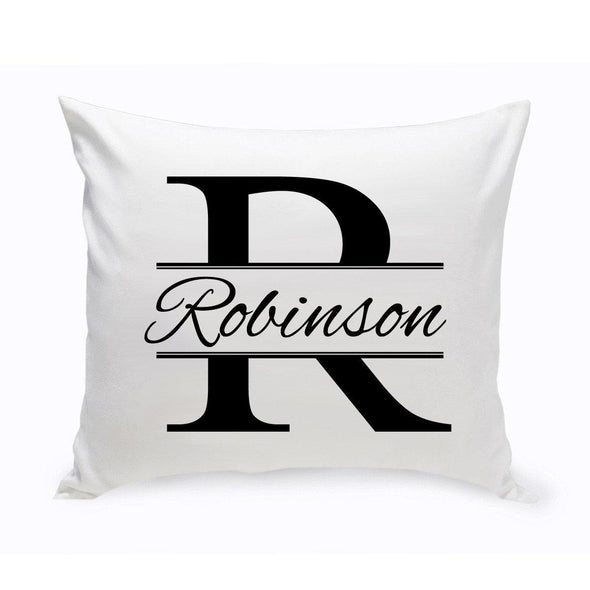 Personalized Stamped Monogram Design Throw Pillow -  - JDS