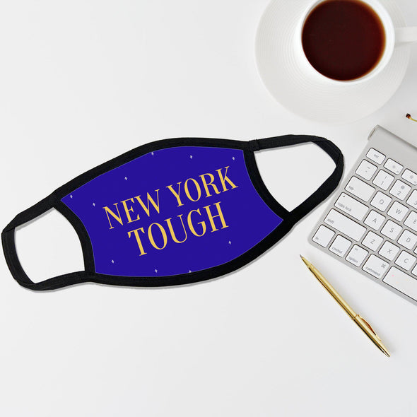 Reusable Face Coverings - New Yorker Collection - New York Tough Dotted - Dark Blue - Qualtry
