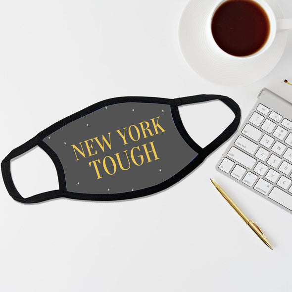 Reusable Face Coverings - New Yorker Collection - New York Tough Dotted - Grey - Qualtry
