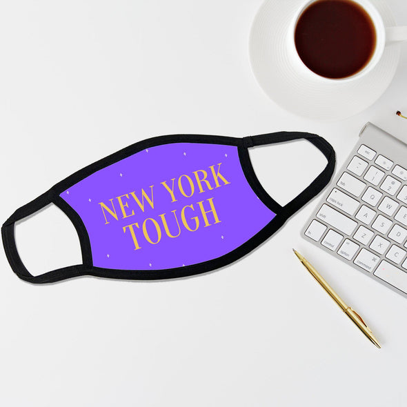 Reusable Face Coverings - New Yorker Collection - New York Tough Dotted - Purple - Qualtry