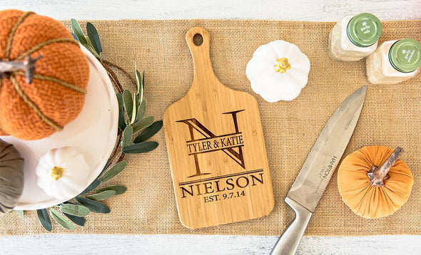 Personalized Handled Bamboo Cutting Boards -  - Qualtry