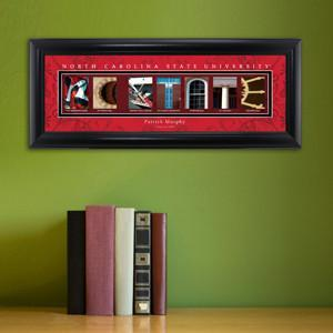 Personalized University Architectural Art -  Atlantic Coast Conference College Art - NCarolinaSt - JDS