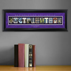 Personalized University Architectural Art - Big 10 Schools College Art - Northwestern