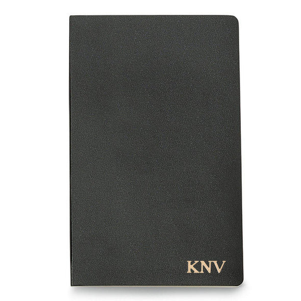 Personalized Moleskine® Notebook – Black - Gold - JDS