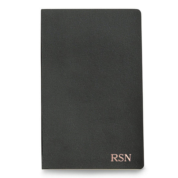 Personalized Moleskine® Notebook – Black - RoseGold - JDS