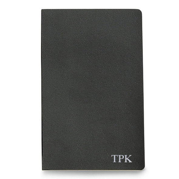 Personalized Moleskine® Notebook – Black - Silver - JDS