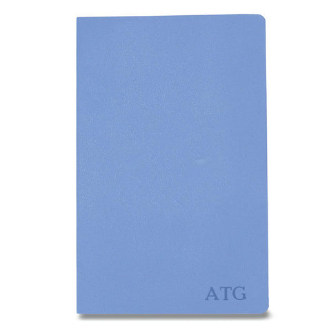 Personalized Moleskine® Notebook – Powder Blue - Blind - Desk and Office - AGiftPersonalized