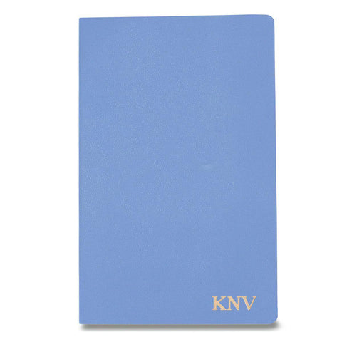 Personalized Moleskine® Notebook – Powder Blue - Gold - Desk and Office - AGiftPersonalized
