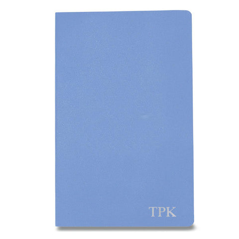 Personalized Moleskine® Notebook – Powder Blue - Silver - Desk and Office - AGiftPersonalized