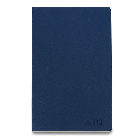 Personalized Moleskine® Notebook – Navy Blue - Blind
