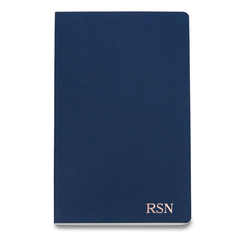 Personalized Moleskine® Notebook – Navy Blue - RoseGold