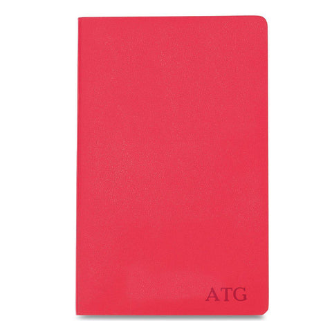 Personalized Moleskine® Notebook – Geranium Red - Blind - Desk and Office - AGiftPersonalized
