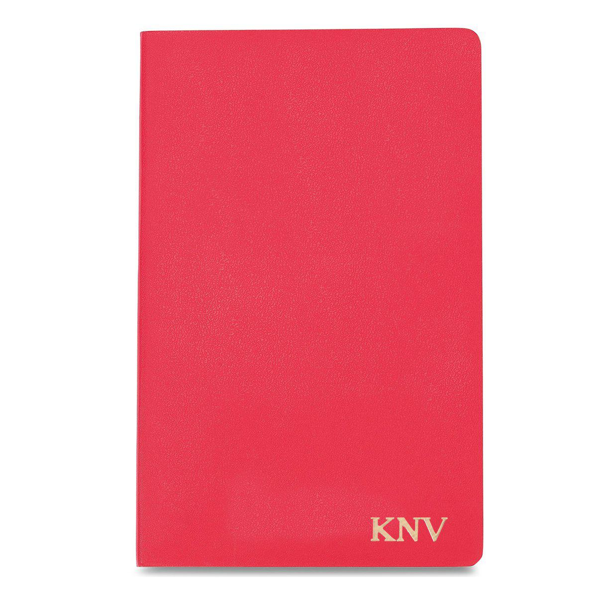 Personalized Moleskine® Notebook - Geranium Red