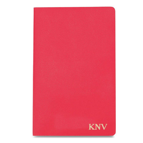 Personalized Moleskine® Notebook – Geranium Red - Gold - Desk and Office - AGiftPersonalized