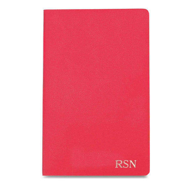 Personalized Moleskine® Notebook – Geranium Red - RoseGold - JDS